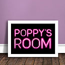 Personalised Neon Sign Poster