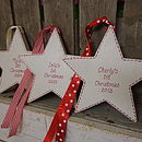 Personalised '1st Christmas' Star