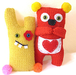 Shy Koala And Cheeky Monster Knitting Kits - sewing kits