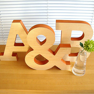 Large Decorative Wooden Letter Sculpture - room decorations