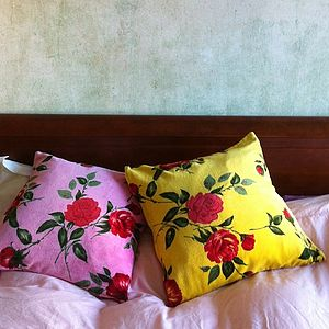 Cotton Velvet Rose Cushion - children's room