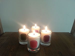 Natural Mini Candle In A Gift Bag 90g - candles & candle holders