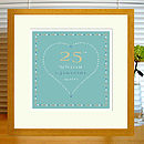 mint print with mount & oak frame