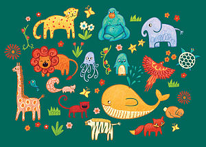 Animals Print - nursery pictures & prints
