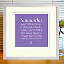 Personalised Christening/Baptism/Birth Print