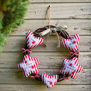 Candy Stripe Festive Wreath