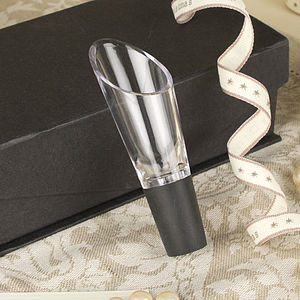 Acrylic Wine Pourer In Gift Box - kitchen accessories