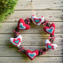 Festive Hearts Wreath