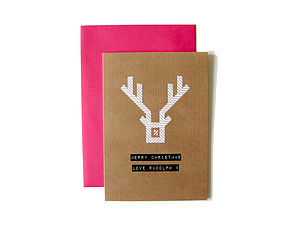 'Merry Christmas Love Rudolph X' Washi Card - cards & wrap