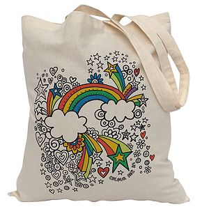 Colour In Rainbow Tote Bag - children's parties