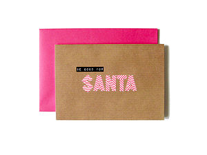 'Be Good For Santa' Washi Tape Card - cards & wrap