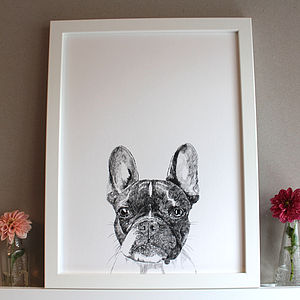 Boston Terrier Dog Print - posters & prints for children