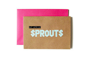 'Eat Lots Of Sprouts' Washi Tape Card - cards