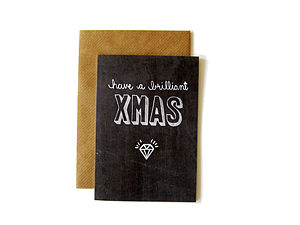 'Have A Brilliant Xmas' Chalkboard Card - cards & wrap