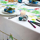 Christmas Doodle Tablecloth To Personalise
