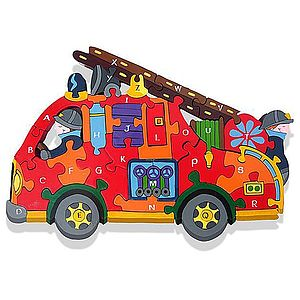 Alphabet Fire Engine Jigsaw Puzzle - toys & games