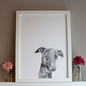 'Percy The Whippet Dog' Print