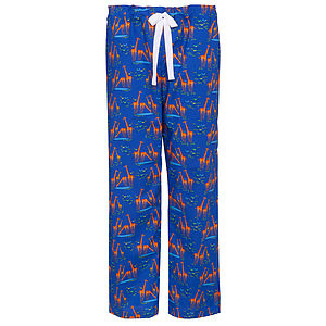 Giraffes Organic Cotton Pyjama Trousers - lingerie & nightwear