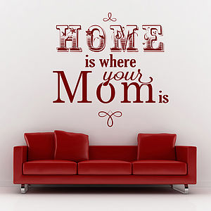 'Home Is Where Your Mom Is' Wall Sticker - wall stickers