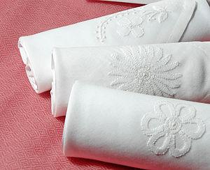 Box Of Ladies Hankies: White Embroidery