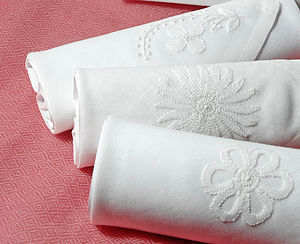 Box Of Ladies Hankies: White Embroidery