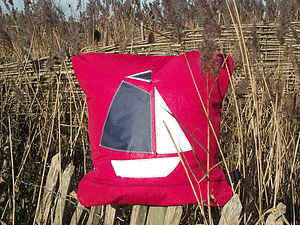 Gaff Boat Sailcloth Cushion - baby's room