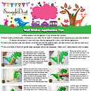 snuggledust wall sticker application tips and instructions