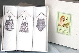 Box Of Three Ladies Hankies: Purses - handkerchiefs