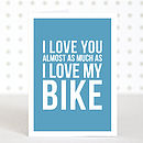 'Love My Bike' Valentines Anniversary Card
