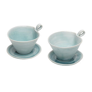 Porcelain Espresso Cup And Saucer - kitchen