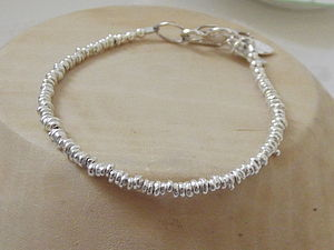 Silver Personalised Small Nugget Bracelet