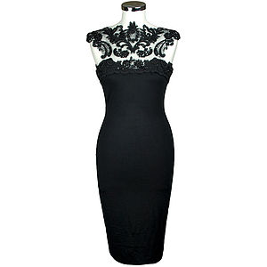 Louisa Lace Dress - the little black dress