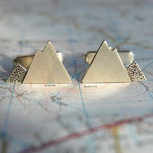 Silver Mountain Cuff Links - cufflinks