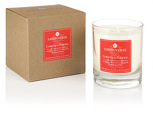 Christmas Pudding Natural Wax Candle