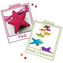 Pink And Multi Coloured Felt Star Bunting