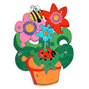 Number Flower Pot Jigsaw Puzzle - traditional toys & games