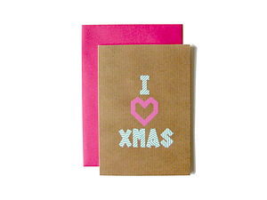 'I Heart Xmas' Washi Tape Card - cards