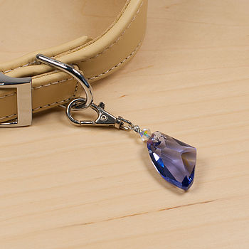 Dog Collar Charm Made With Swarovski Crystal