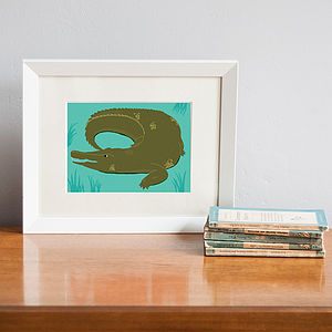 Crocodile Print Animal Art