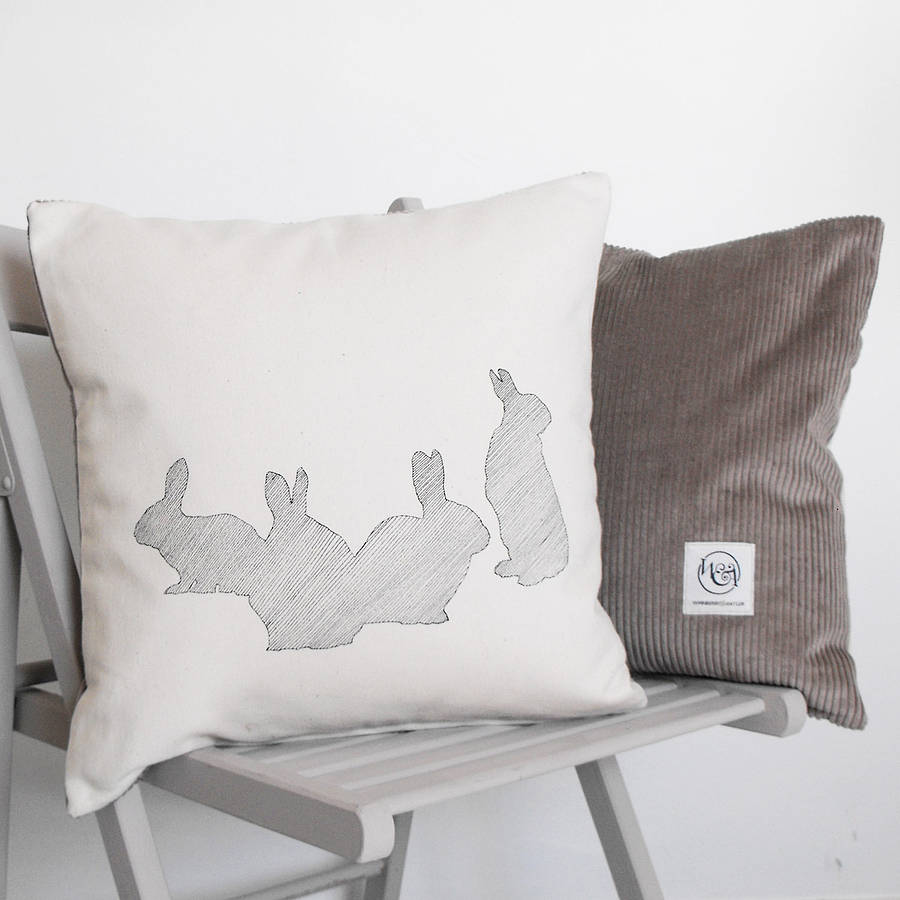 Down Of Rabbits Cushion