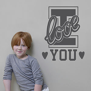 'I Love You' Wall Sticker - wall stickers