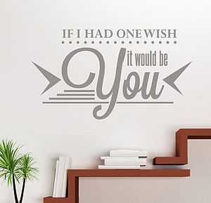'If I Had One Wish…' Wall Sticker - wall stickers