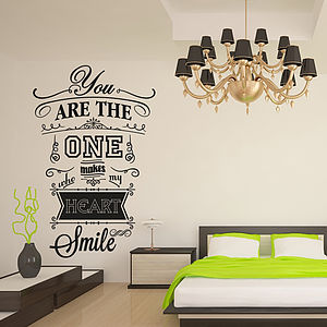 'You Are The One…' Wall Sticker - wall stickers