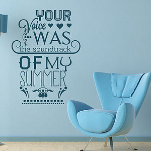 'Your Voice Was…' Wall Sticker - wall stickers