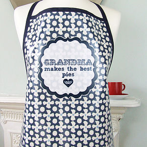 Personalised Oilcloth 'Mum Cooks…' Apron - kitchen accessories