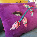 Velvet Bird Cushion