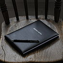 Genuine Leather Groom Notebook