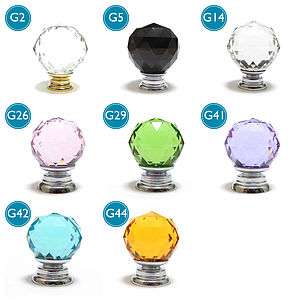 Faceted Crystal Glass Cupboard Door Knobs - home accessories
