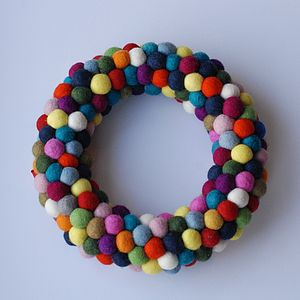 Feltball Freckle Wreath