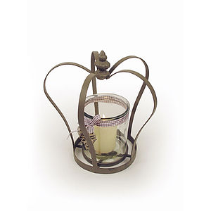 Crown Tea Light Holder - lights & candles
